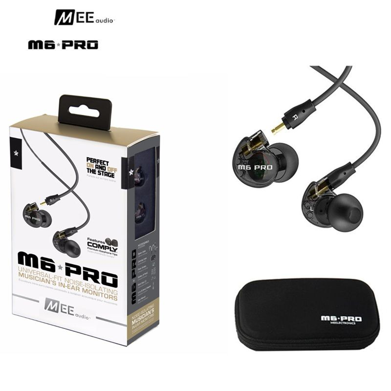 DHL free (10 pieces/lot) wired sports running MEE M6 PRO Noise-isolating HiFi In-Ear Monitors Earphones with Detachable Cables dhl free 2pcs black white m6 pro universal 3 5mm wired in ear earphone noise isolating musician monitors brand new headphones