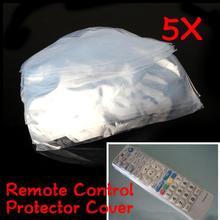 5 шт./упак. термоусадочная пленка прозрачная видео ТВ кондиционер пульт дистанционного управления защитная крышка домашний водонепроницаемый защитный чехол
