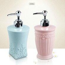 400ML European style Carved Shower Gel Divided Empty Bottle Hand Sanitizer Shampoo Dispenser Resin Soap Emulsion Pressed Bottles