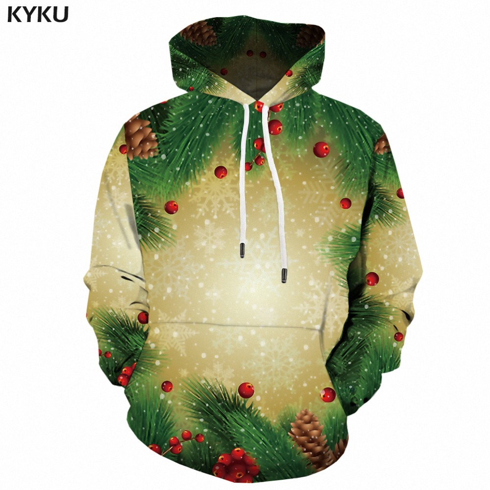 KYKU Brand Christmas Hoodies Women Xmas Casual Sweatshirts Red Female Happy Woman Clothes Party Japanese Ladies Hoody