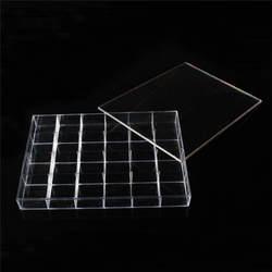 Оптовая продажа 1 шт. Clear View Акриловые Jewelry Дисплей коробка для хранения с 24 отделения для Кольцо Кулон Серьги stroge