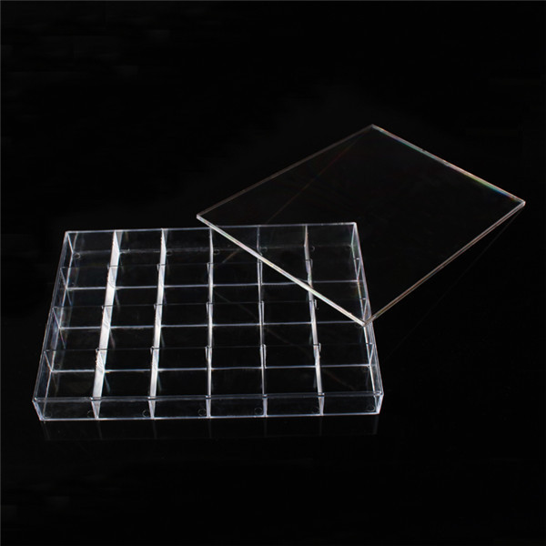 Wholesale 1pc Clear View Acrylic Jewelry Display Storage Box with 24 Compartments for Ring Pendant Earring Stroge