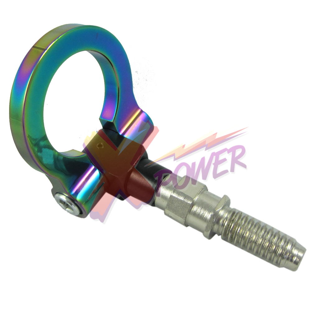 Xpower-Universal CNC RACING T2 TOW HOOK FOR <font><b>BMW</b></font> M E46 E81 <font><b>E30</b></font> E36 E90 E91 E92E93 1 3 SERIES NEO <font><b>CHROME</b></font> image