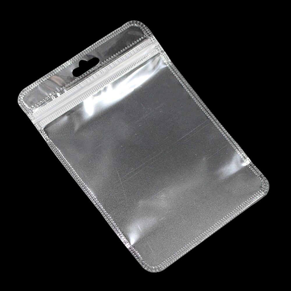 Ev ve Bahçe'ten Saklama çantaları'de 3000 adet/grup Temizle Kilitli Plastik Torbalar Euro Asmak Delik Açılıp Kapanabilir Fermuar Poli Çanta Tuşları Için Lastik Bant Aksesuarları'da  Grup 1