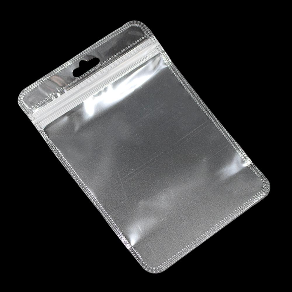 3000 uniunids/lote bolsas de plástico transparente Ziplock con Euro agujero para colgar bolsas de polietileno con cremallera resellable para llaves accesorios de banda de goma-in Bolsas de almacenamiento from Hogar y Mascotas    1