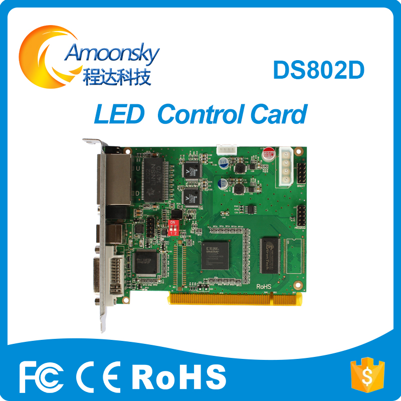 Linsn DS802D led screen sending card Single & Dual color led display sending card linsn DS802 replace DS801 DS801d best selling full color led display linsn ds901 led screen sending card single