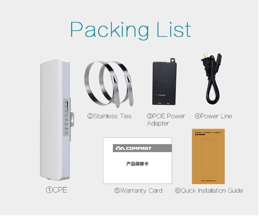 COMFAST Outdoor abdeckung siganl booster 300 Mbps verstärker 5,8 Ghz 14dBi High Gain Wifi Empfänger Für IP Kamera Projekt CF E312A - 6