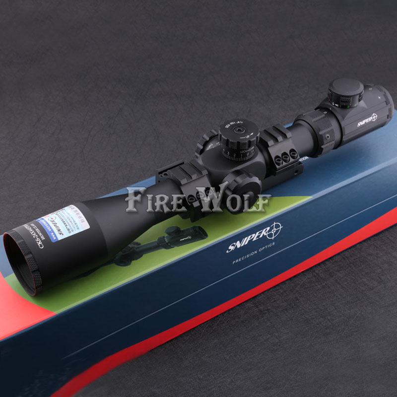 SNIPER CK 6-24X44 FPSAL  Hunting Rifle Scope Side Parallax Adjustment Glass Etched Reticle RG Illuminated with Bubble Level 2 in 1 20000lm 16 x xm l t6 led rechargeable bicycle light bike headlight headlamp head lamp 18650 battery pack charger