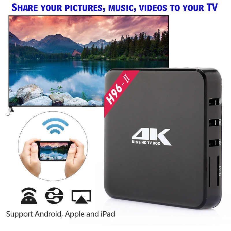 H96 II Android 7.1 TV Box WiFi S905X smart tv box android 2 gb ram Quad Core décodeur tvbox 4 k lecteur multimédia X96 décodeur