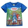 5 UNIDS 4Y-12Y Wholessale Niños del Tren de Thomas Camiseta de Algodón Camisetas de Los Niños t-Shirt Niños de Dibujos Animados Camiseta Garcon Niños Ropa Chicos camiseta