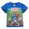 5PCS Wholessale 4Y-12Y Boys Thomas Train Tshirt Cotton Tees Kids t-Shirt Boys Cartoon Tee Shirt Garcon Kids Clothes Boys Tshirt