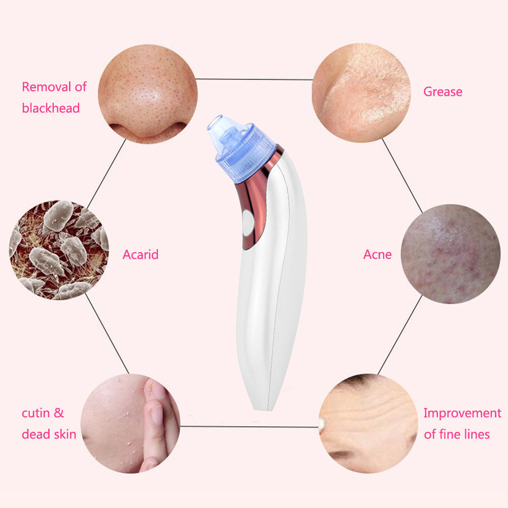 Golden Rose Red Pore Cleaner Blackhead Remover Facial Skin Care Cleansing Zit Acne Black Head Suction Beauty Machine WH9
