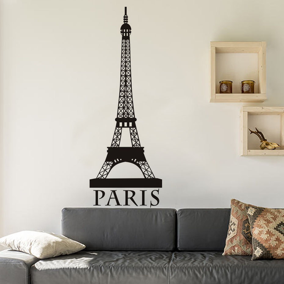 DIY Removable Romantic Paris Eiffel Tower Customized Wall Stickers Art  Vinyl Decals Home Baby Girls Room Bedroom Dormitory Decor In Wall Stickers  From Home ...