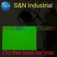 A5 Size Lime Green El Sheet El Panel El Back Light With 5V USB Controller Steady
