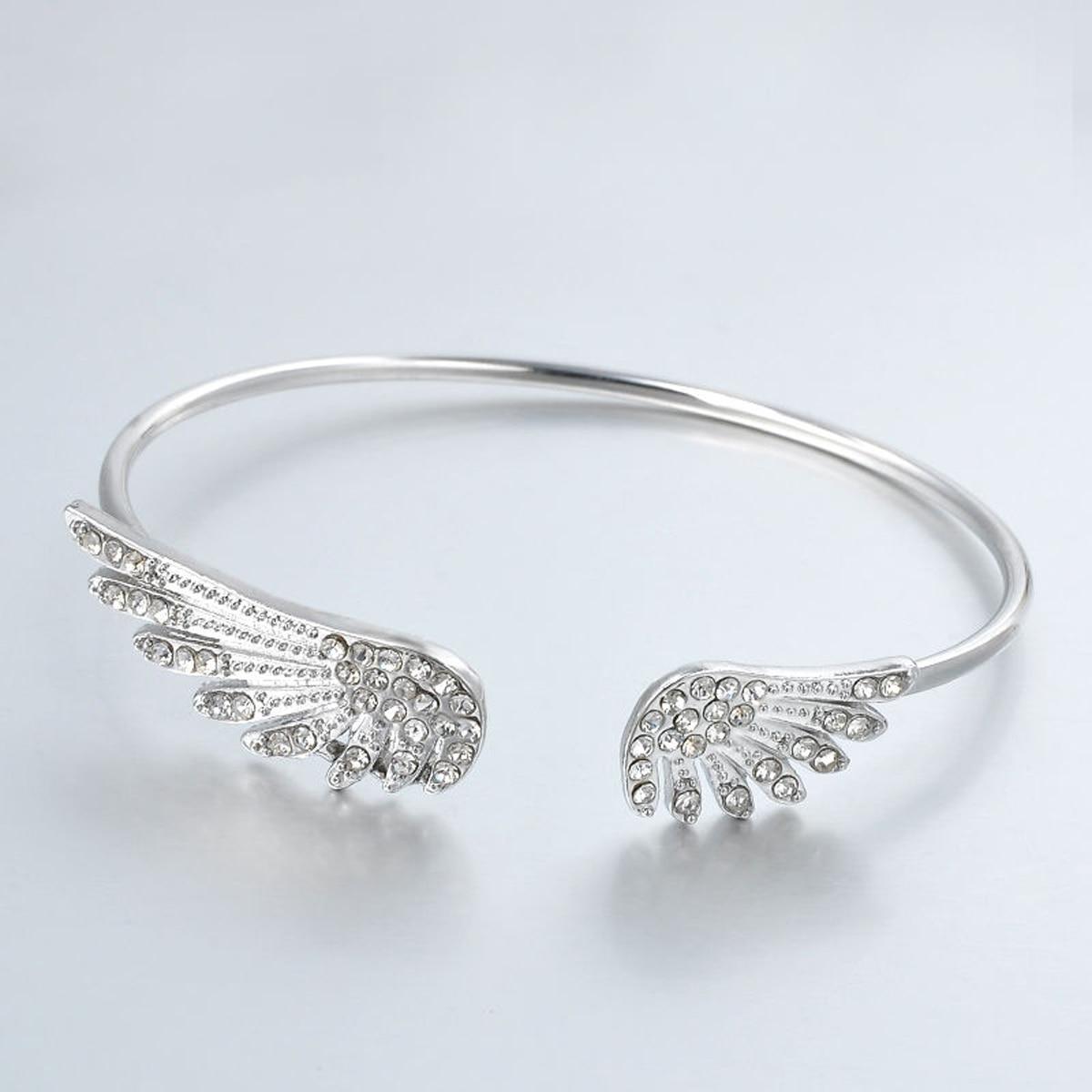 Trendy Silver Plated Bracelet For Women Bangle Full
