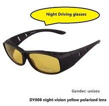 Unisex Fit Over glasses cover Prescription night driving glasses sunglasses night vision goggles polarized sunglasses