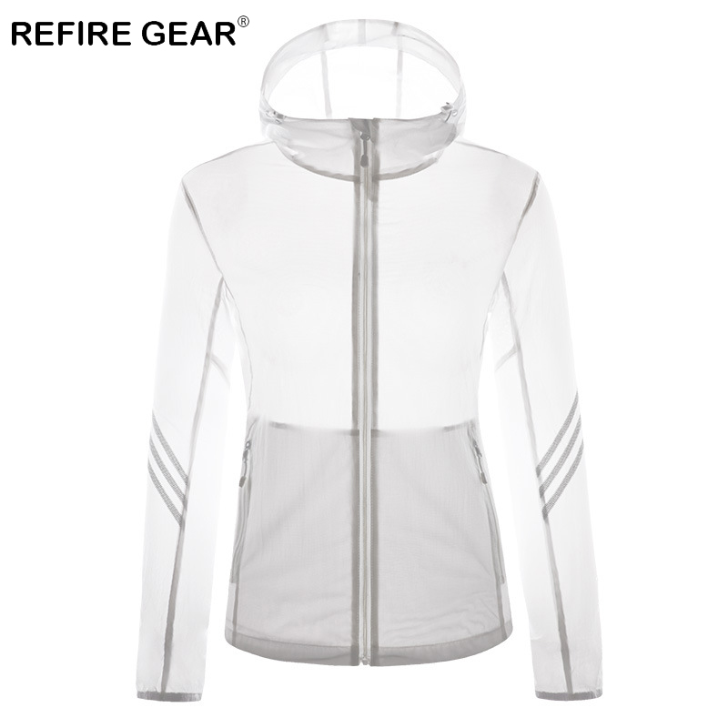 ReFire Gear Summer Sun Protective Breathable Skin Jacket Women Waterproof Windproof Quick Dry Jacket Hooded Outdoor Sport Jacket in Hiking Jackets from Sports Entertainment