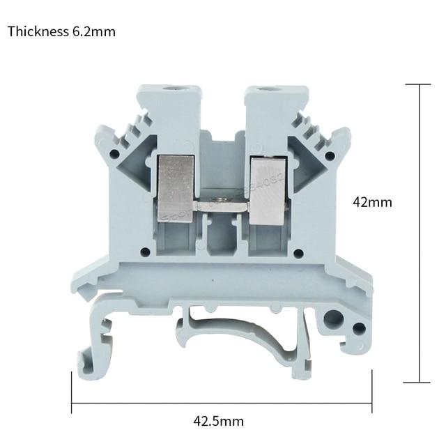 0.2 4mm2 0.2 2.5mm2 Universal class terminal block din rail double ...