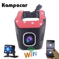 Kampacar Hidden Mini Wifi Camera Auto Cam Wifi Car Camera Recorder Video Registrator Rear View Camera Dvrs Full HD 1080P Dashcam