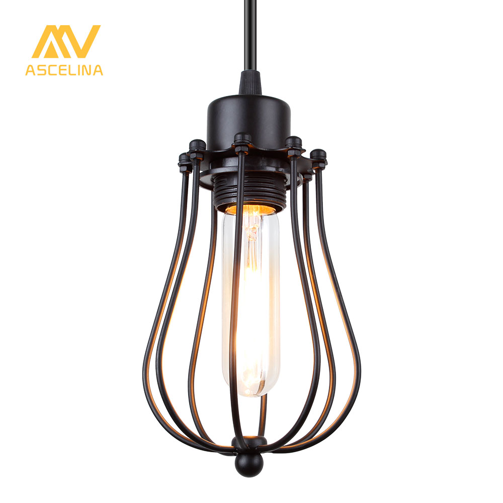 ASCELINA LED Pendant light Edison light bulb loft American country ...
