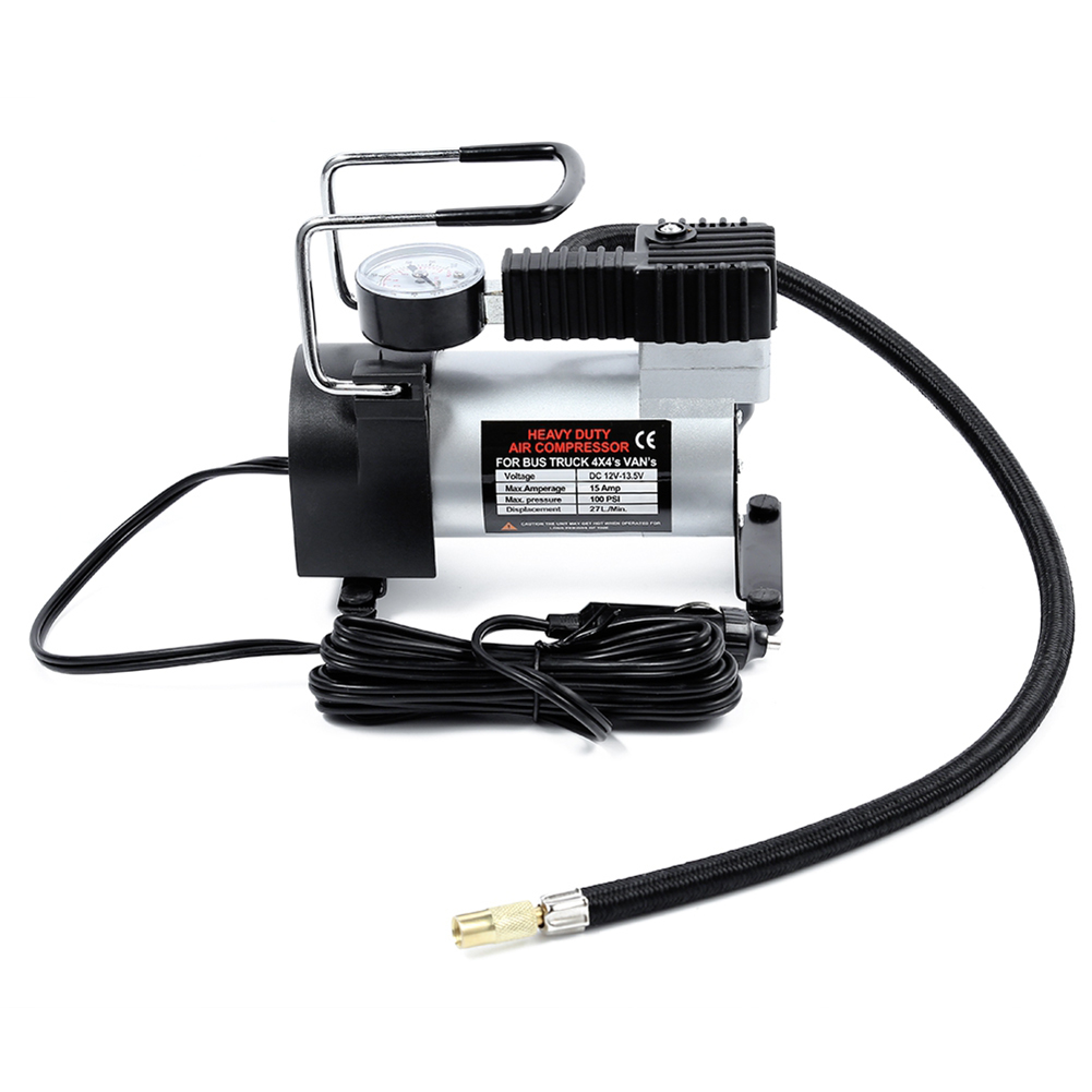 12V Portable Car Electric Inflator Pump Air Compressor 100PSI Electric Tire Tyre Inflator Pump for for Auto Bicycles Motorcycl dc 12v portable electric air pump air bed mattress boat car auto air inflatable pump for camping inflator with 3 nozzles mayitr