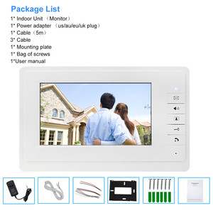 Image 5 - OBO ידיים 7 אינץ TFT צבע וידאו אינטרקום וידאו Doorphone פעמון Wired דלת Bell הפנימי מסך צג לבית דירות