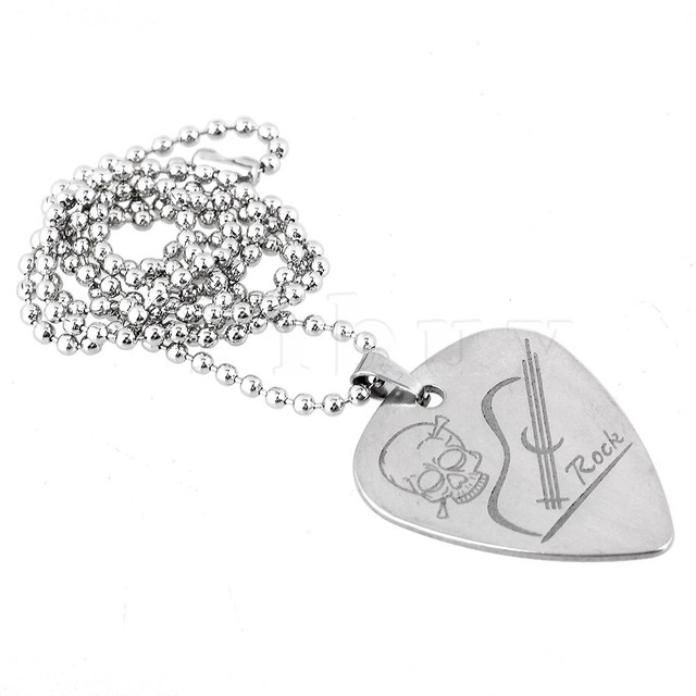 Yibuy 500mm chain metal silver heart shape guitar pick pendant yibuy 500mm chain metal silver heart shape guitar pick pendant holder necklace aloadofball Images