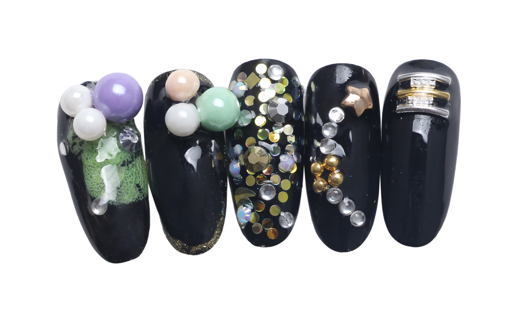 Nails Art & Tools Japanese Nail Art Decorations 6mm Mixed Color Nail Pearl Jewelry Surface Enamel Porcelain Recycling 3d Rhinestones Bz042