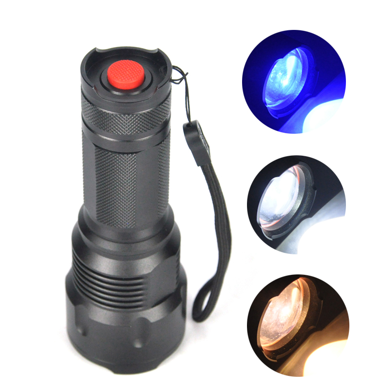 Boruit 3 XPE LED Flashlight Aluminum Zoomable Torch Light Camping Lamp Hunting Fishing Flashlight by 18650 Battery Not Included u king zq g008 xpe q5 18650 800lm zoomable led flashlight