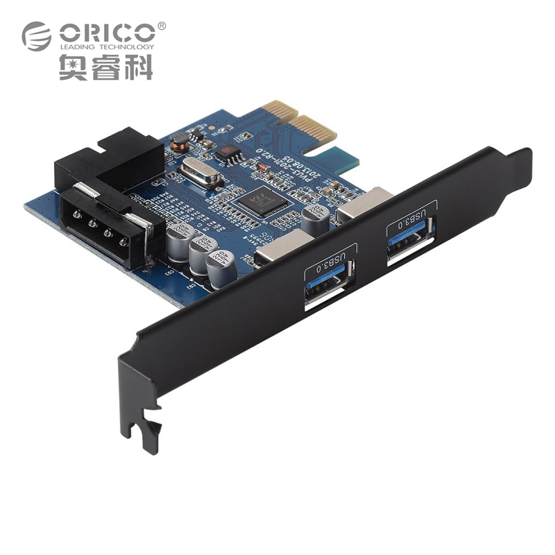ORICO USB 3.0 PCI-E Expansion Card Adapter PCI-E USB 3.0 HUB Controller Adapter Card for Windows Vista PC Laptop (PVU3-2O2I)