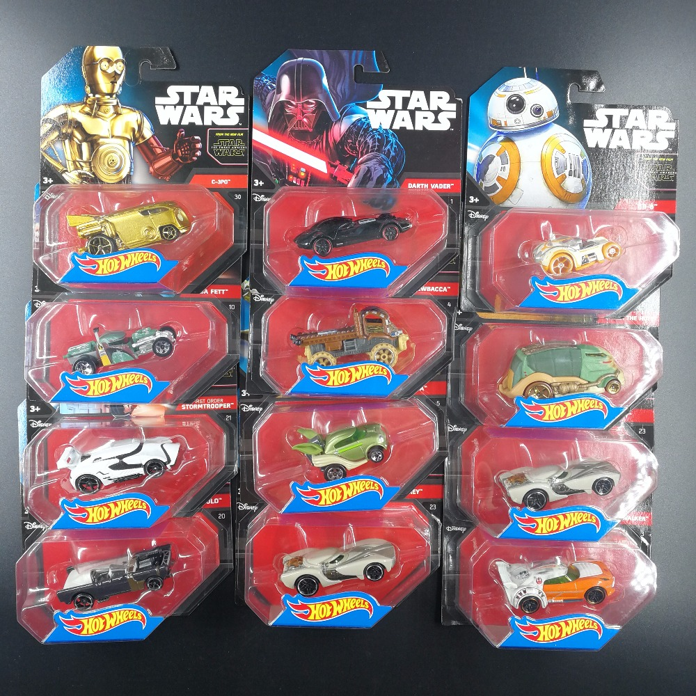 Hot Wheels 1:64 Sports Car Star Wars Darth Vader Collective Edition Metal Material Race Car Collection Alloy Car Gift For Kid