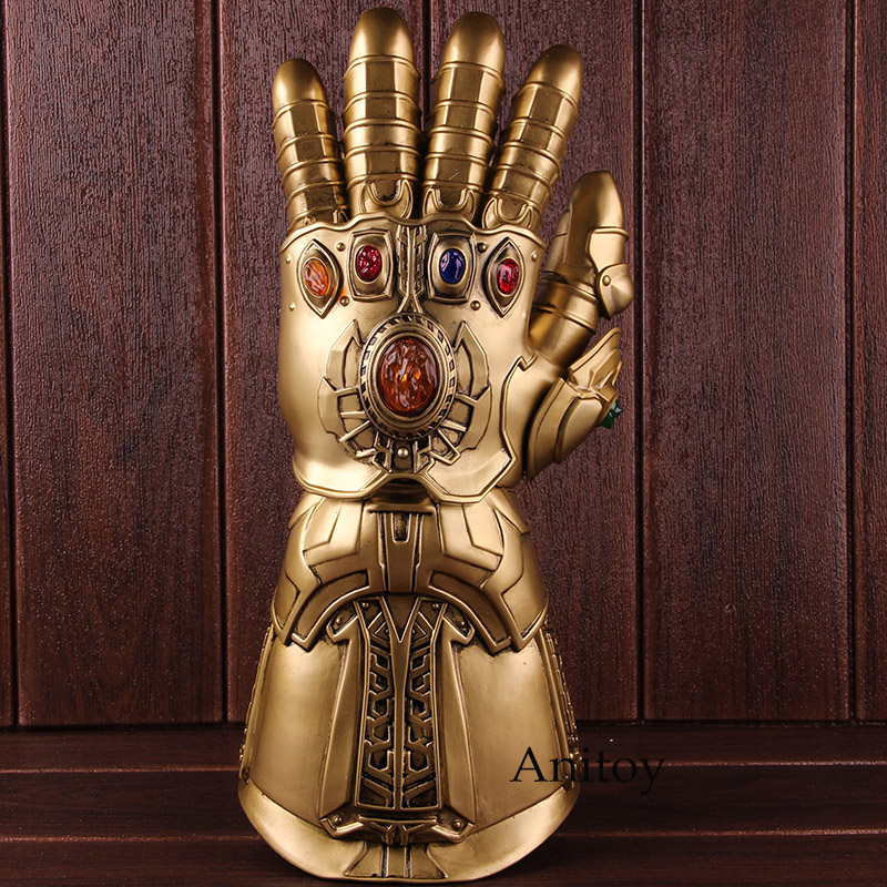 High Quality Avengers Infinity War Thanos Gauntlet Glove Infinite Gloves with LED Light PVC Action Figure Collectible Model Toy 1