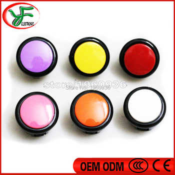 100pcs Mixed color button copy sanwa 30mm push button for DIY Arcade fighting game kit