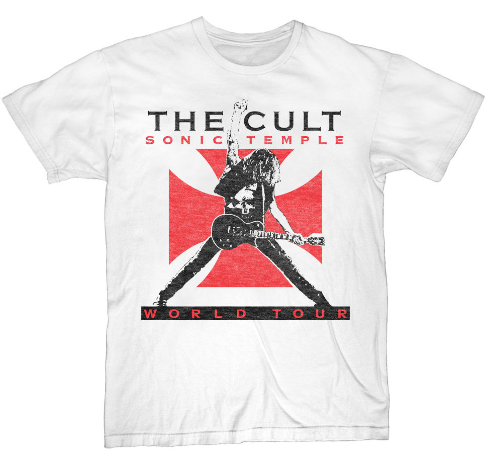 The Cult Sonic Temple 89 Tour Mens White Rock   T     Shirt   New S-3XL Summer Short Sleeves New Fashion   T  -  Shirt