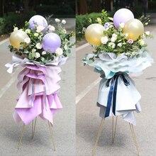 1PCS Fashion Iron Flower Stand Creative Metal Frame Floral Bouquet Bracket Wedding Home Party Decoration DIY