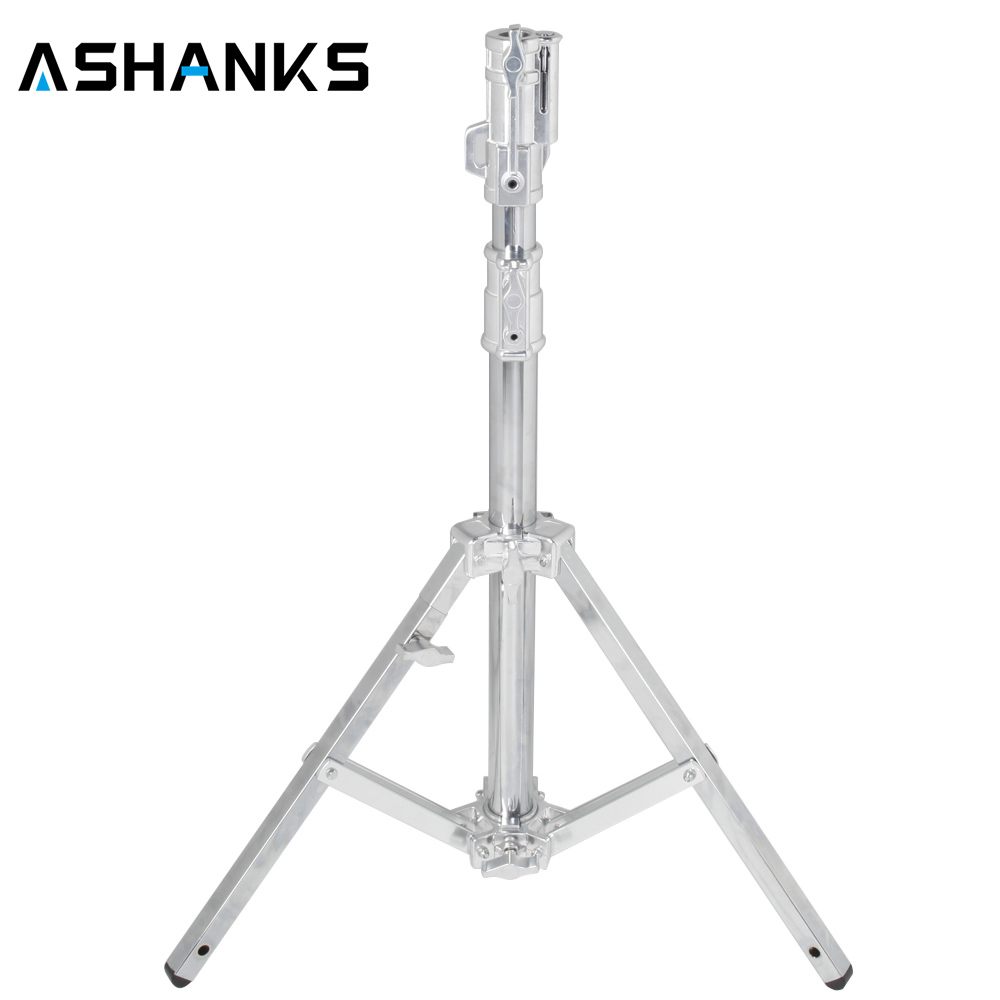 ASHANKS B301 Heavy Duty Light Stand Studio Stand 133CM stainless steel Tripod load 40kg for light 2k 5k HMI compact par 1.2k M18 mz 2400fp 7 8 feet 240cm heavy duty cushioned premium black light stand for video portrait and product photography no00dc