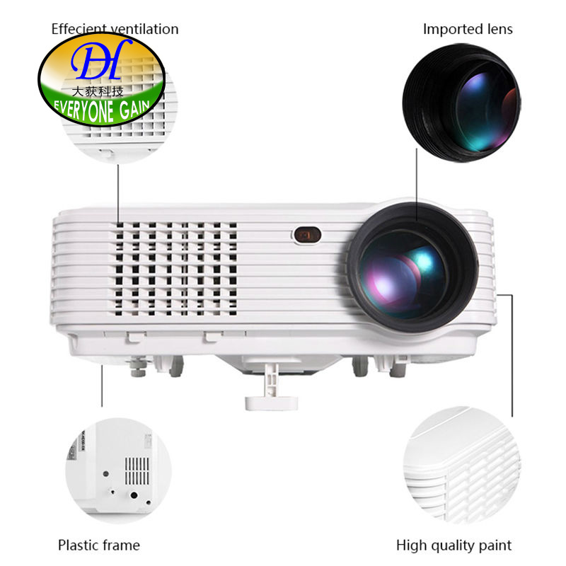 New DH-TL120A 5200Lumens Quadcore Android OS WiFi Smart 1080P 3D Full HD LCD Home Theater TV LED Projector Video Beamer