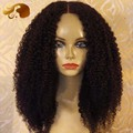 Stock Full Lace Human Hair Wigs For Black Women Brazilian Virgin Human Hair Lace Front Wigs Afro Kinky Curly Glueless Lace Wig