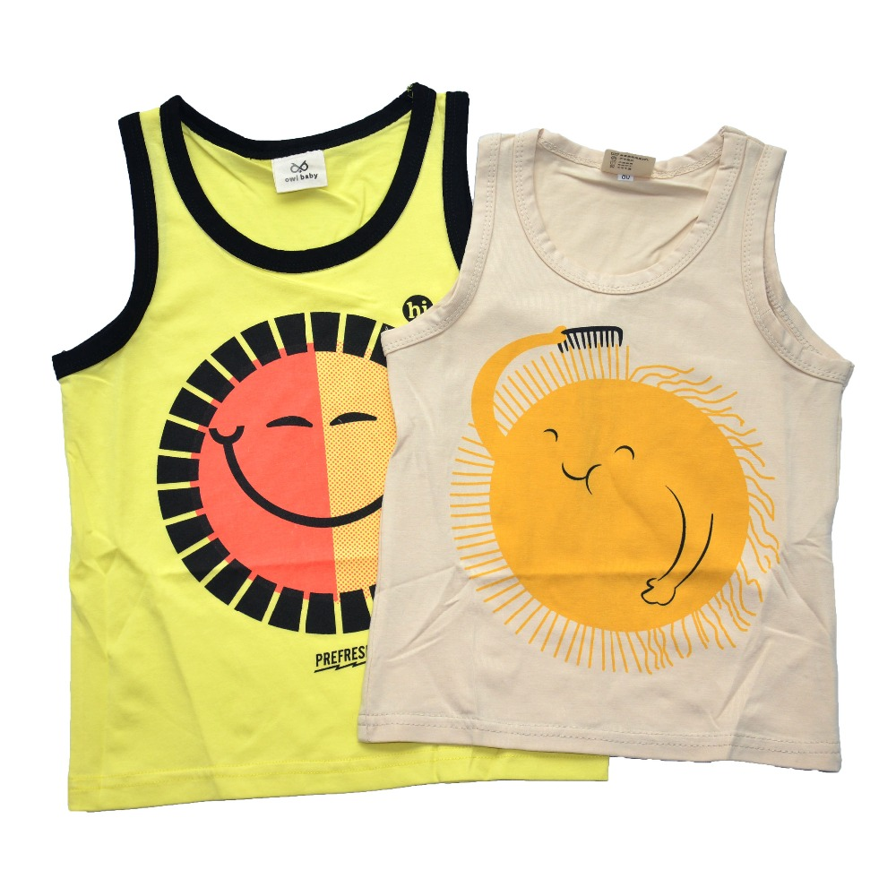 Baby tops children tanktops toddlers summer t shirts girls for T shirt printing for babies