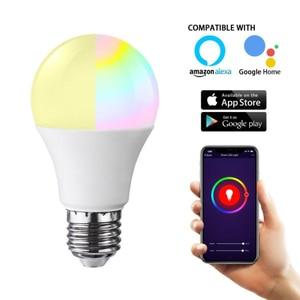 Image 2 - E27 WiFi חכם אור הנורה RGB LED מנורת 11W צבעים Dimmable הנורה בקרת קול תואם עם Alexa ו google עוזר
