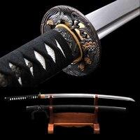 Brandon Swords Battle Ready Samurai Katana Handmade Sharp Japanese Sword Full Tang Damascus Tameshigiri Katana Practice Aikido