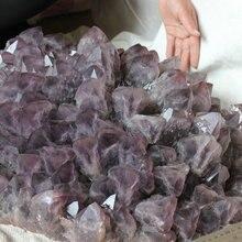 61кг(134.4LB) огромный натуральный аметист кристалл кварца кластера точек, образцы камней, Бразилия кластера