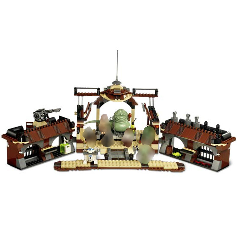 In Stock Star Wars Jabba s Sail Barge Starwars Building Blocks Toys for Children Compatible 821pcs