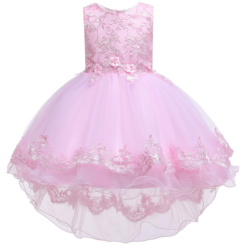 HTB1Yw8He9SD3KVjSZFKq6z10VXaz - Kids Princess Dresses For Girls Clothing Flower Party Girls Dress Elegant Wedding Dress For Girl Clothes 3 4 6 8 10 12 14 Years
