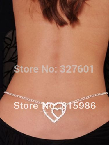 af094e1c66d4 Envío Gratis 1 unids joyería del cuerpo cadena de la cintura de la manera  para la danza del vientre del corazón del ombligo de la cadena cadenas  cuerpo