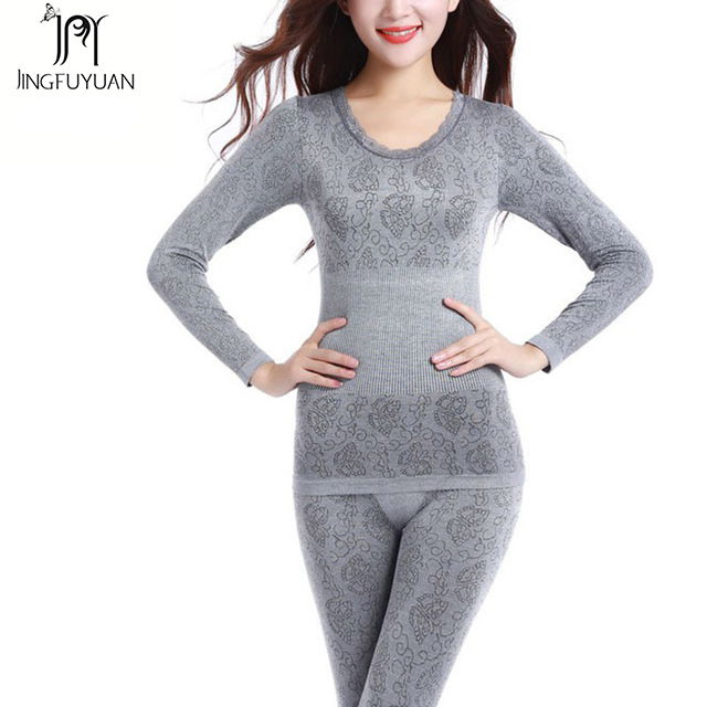 2019 Fashion Thermal Underwear Sets Female Long Johns Ladies Thermal Clothing Winter Soft Thermal  Set Long Johns For Women