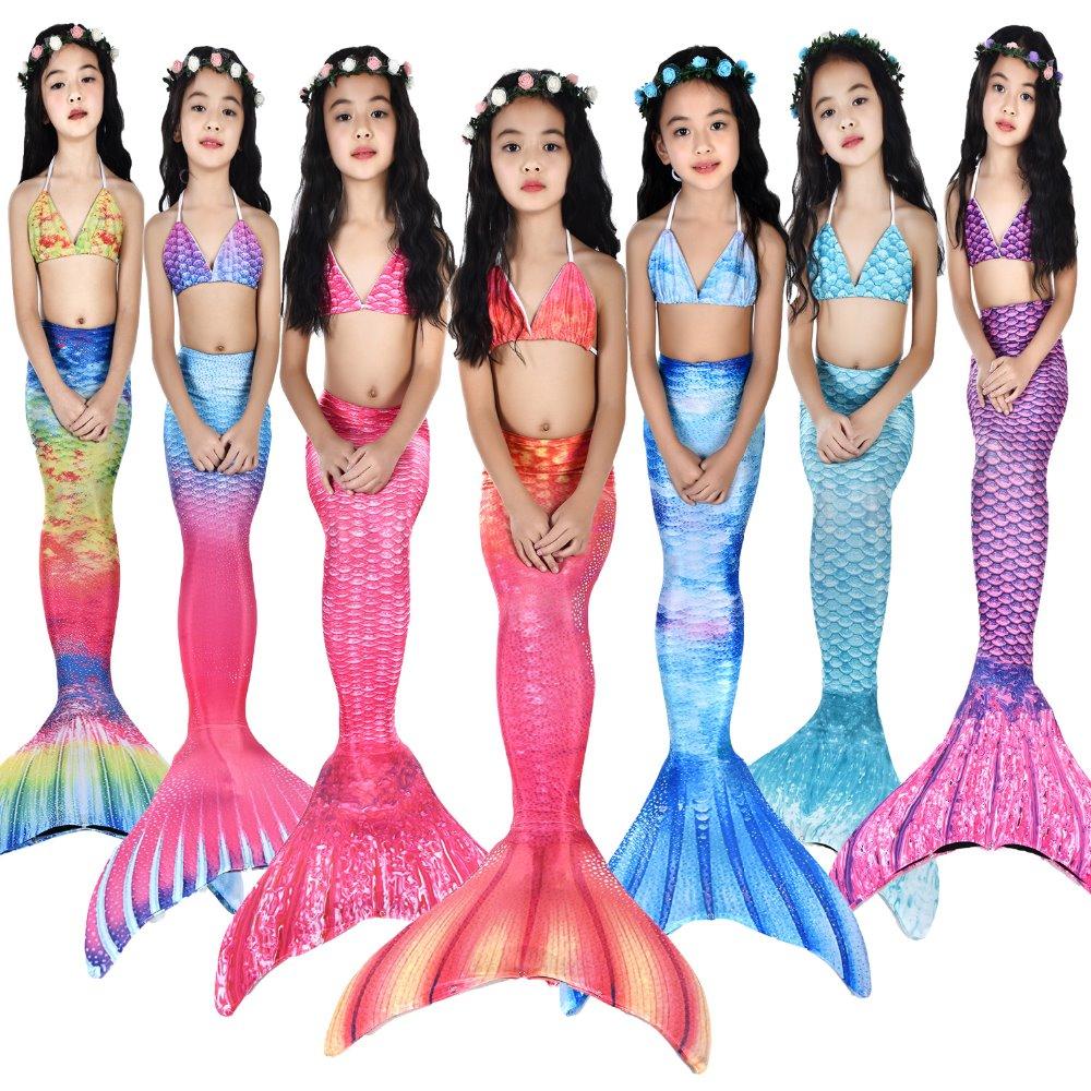 Pink Mermaid Long Tail Costume Skirt
