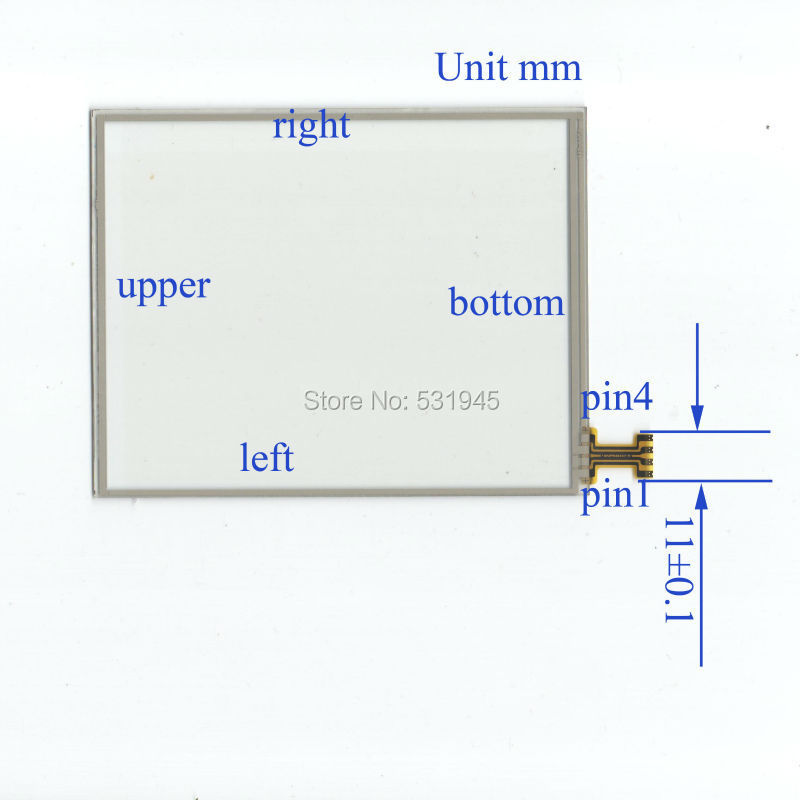 M2-1104128*100 128mm* 100mm 5.7inch Touch Screen Digitizer Free shipping 4 line resistor Touch Screen handwritten General