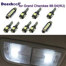 Deechooll 12 шт. светодиодный светильник для Grand Cherokee 98-04, автомобильный интерьерный светильник для Jeep Grand Cherokee WJ, автомобильный купольный светильник, аксессуары