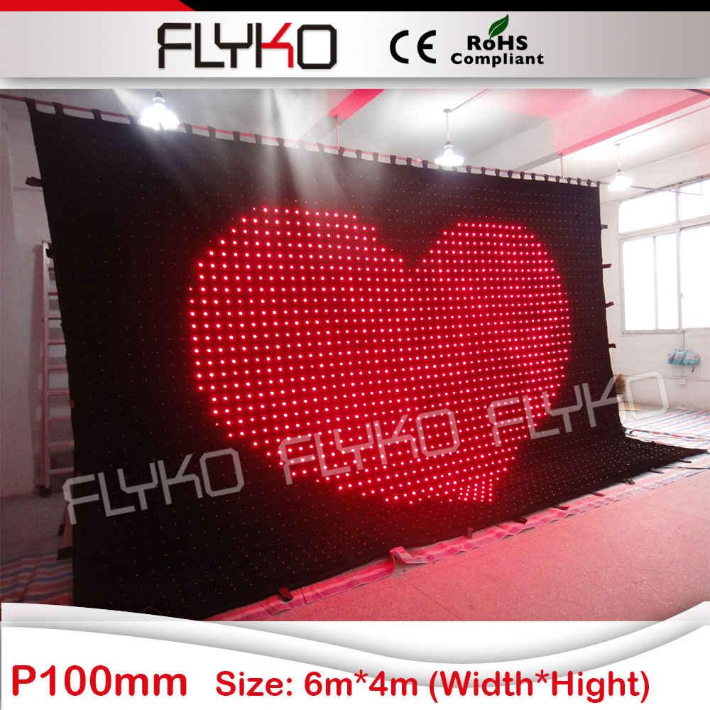 led light disco xxx imagic smd led curtain P10 6x4m